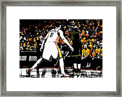 King James Directing Traffic Framed Print