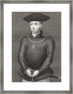 King James II Of Scotland, 1430-1460 Framed Print
