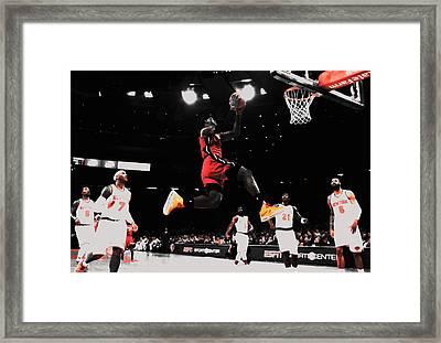 King James In Flight Framed Print