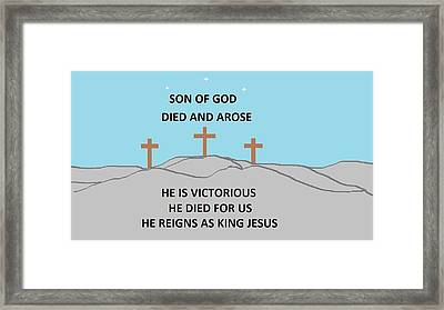 King Jesus Framed Print by Linda Velasquez