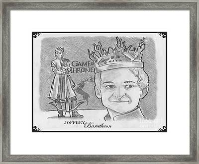 King Joffrey Baratheon Framed Print by Chris  DelVecchio