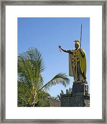 King Kamehameha Statue Hawaii Framed Print