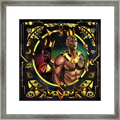 King Kevinhart And King Dwayne Johnson Framed Print by Kenal Louis