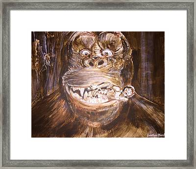 King Kong - Deleted Scene - Kong With Native Framed Print