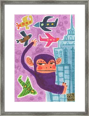 King Kong Framed Print by Kate Cosgrove