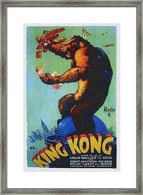 King Kong, Swedish Poster Art, 1933 Framed Print by Everett