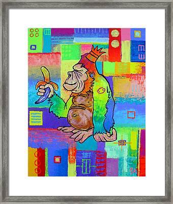 King Konrad The Monkey Framed Print by Jeremy Aiyadurai