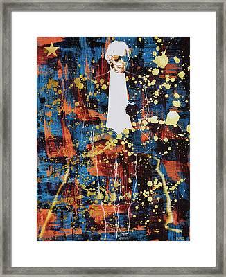 King Lagerfeld Framed Print by Surj LA