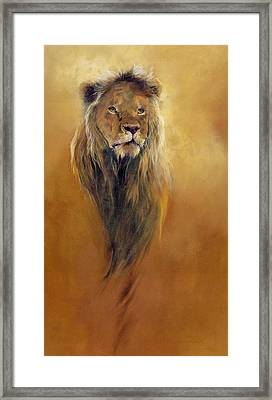 King Leo Framed Print by Odile Kidd