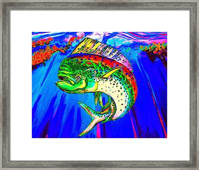 King Mahi-mahi Framed Print