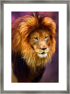 King Framed Print by Michael Greenaway