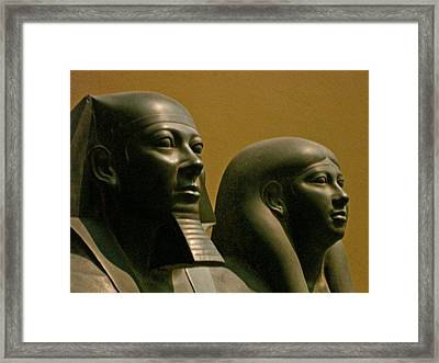 King Mycerinus And His Queen Framed Print