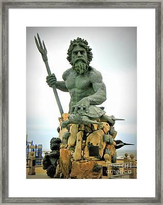 King Neptune Statue Framed Print