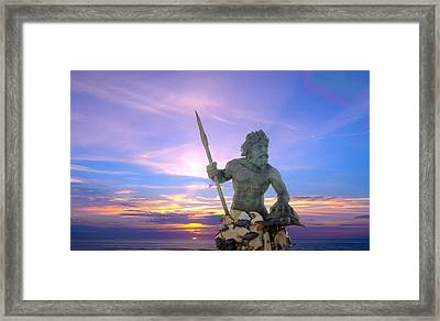King Neptune's Sunrise Framed Print