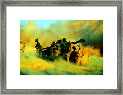 King Of Battle Framed Print by Brian Reaves