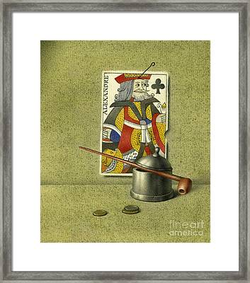 King Of Clubs Framed Print