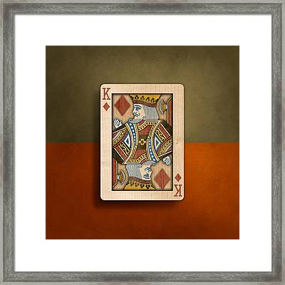 King Of Diamonds In Wood Framed Print