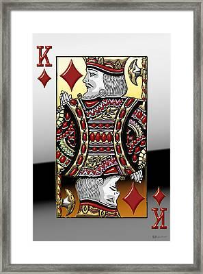 King Of Diamonds   Framed Print