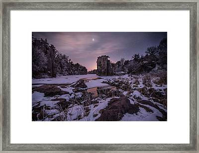 Framed Print featuring the photograph King Of Frost by Aaron J Groen