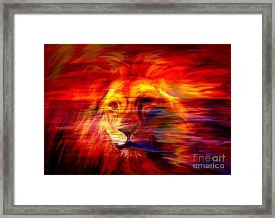 King Of Glory Framed Print