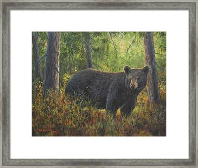 King Of His Domain Framed Print by Kim Lockman