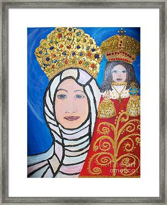 King Of Kings And The Queen Mother Framed Print