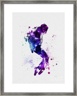 King Of Pop Framed Print by Rebecca Jenkins