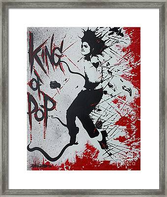 King Of Pop Framed Print by Renate Dubose