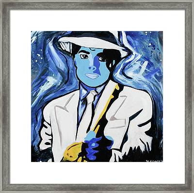 King Of Pop With Gun Framed Print by SL Elevate