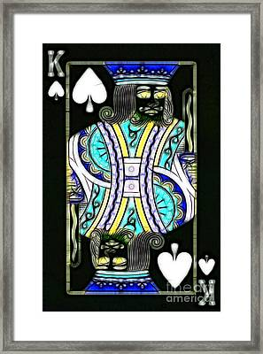 King Of Spades - V2 Framed Print by Wingsdomain Art and Photography