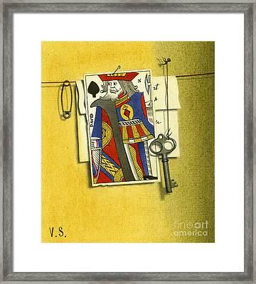 King Of Spades Framed Print