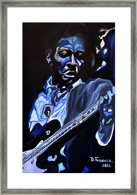 King Of Swing-buddy Guy Framed Print by David Fossaceca