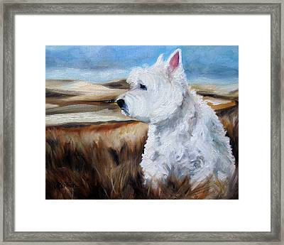King Of The Hill Framed Print by Mary Sparrow