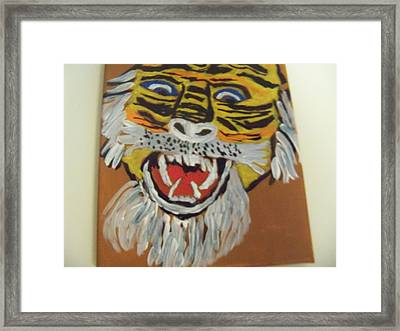 King Of The Jungle Framed Print by Rhonda Jackson
