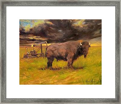 King Of The Prairie Framed Print by Margaret Aycock