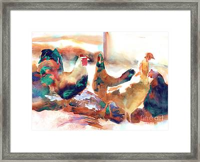King Of The Roost Framed Print by Kathy Braud