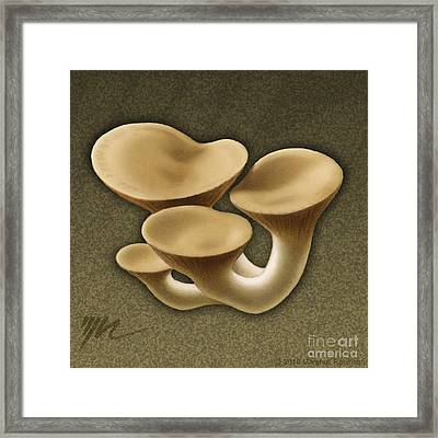 King Oyster Mushrooms Framed Print