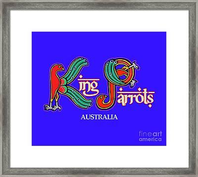 King Parrots Australia Framed Print