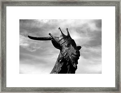 King Puck No 2 Framed Print