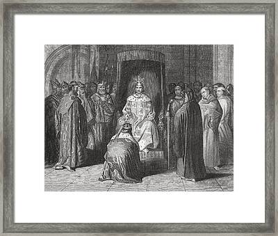 King Richard II Knighting The Kings Of Framed Print by Vintage Design Pics