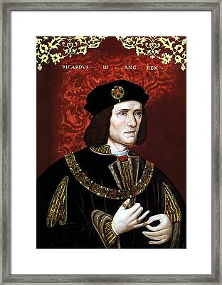 King Richard IIi Of England Framed Print