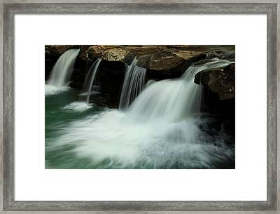King River Falls In Spring Framed Print by Iris Greenwell