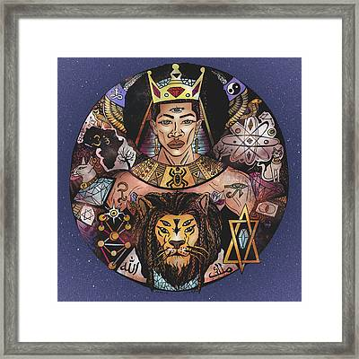 King Solomon And The Lion Of Judah Framed Print by Kenal Louis
