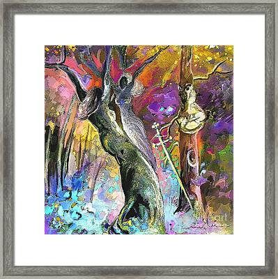 King Solomon And The Two Mothers Framed Print