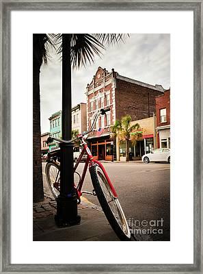 King Street Charleston Sc  -7436 Framed Print
