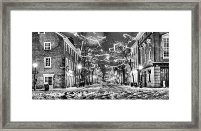 King Street In Black And White Framed Print by JC Findley