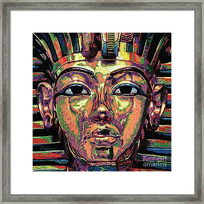 King Tutankhamun Death Mask Framed Print