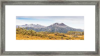 King William Range. Australia Mountain Panorama Framed Print
