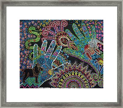 Kingdom Of Avatar Framed Print by Vijay Sharon Govender