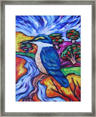 Kingfisher By The River 1 Framed Print